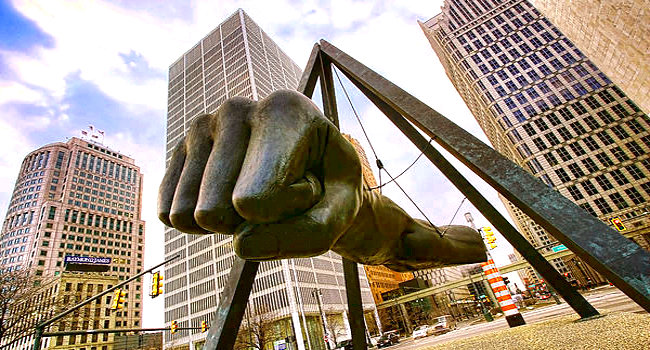 The Fist Monument to Joe Louis in Detroit