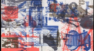 Robert Rauschenberg, Cover for magazine of the Miami Herald, December 30, 1979, 1979; offset lithograph, 12.5 by 21.5 inches. Vanderbilt University Fine Arts Gallery Collection.
